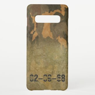 Green camouflage pattern vintage V2.0 Samsung Galaxy S10+ Case