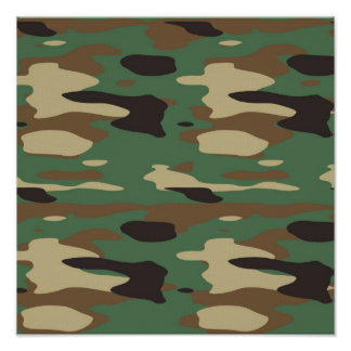 Green Camouflage Poster