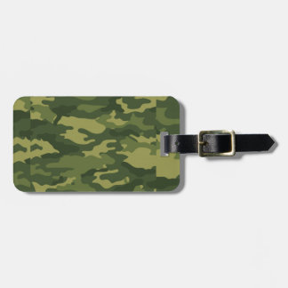 Green Camouflage Print Tags For Bags