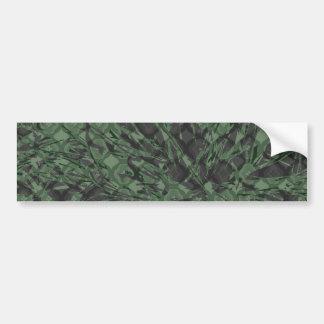 Green Camouflage Quatrefoil Pattern Bumper Sticker
