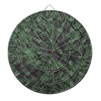 Green Camouflage Quatrefoil Pattern Dart Board
