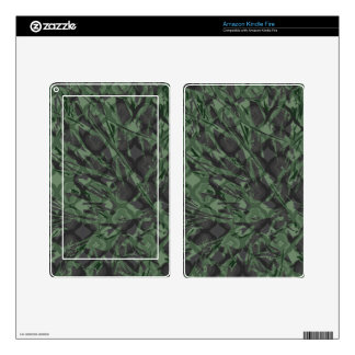 Green Camouflage Quatrefoil Pattern Kindle Fire Decal