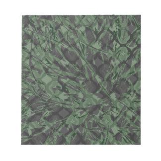 Green Camouflage Quatrefoil Pattern Notepad