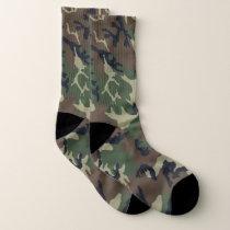 Green Camouflage Socks