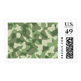 Green camouflage stamps