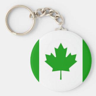 Green Canada-Flag Key-Chain Keychain