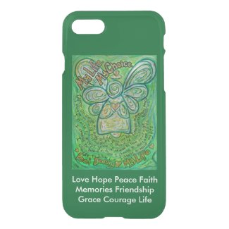 Green Cancer Angel Poem Custom iPhone Art Case