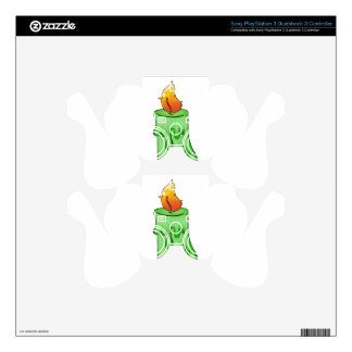 Green candle skins for PS3 controllers