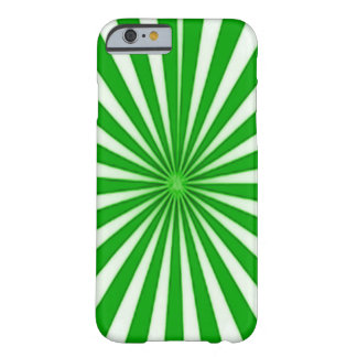 Green Candy Cane Star Burst Barely There iPhone 6 Case