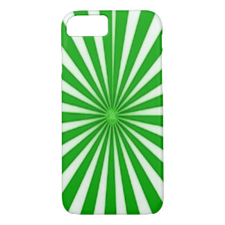Green Candy Cane Star Burst iPhone 7 Case