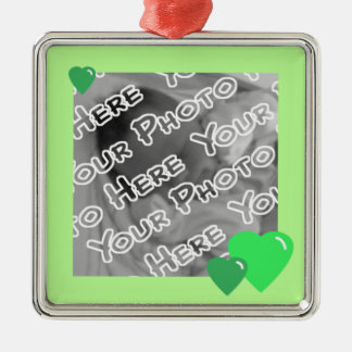 Green Candy Hearts Ornament