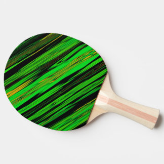 Green Candy Stripe Ping-Pong Paddle