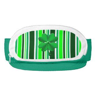 Green candy stripes 4 leaf clover visor