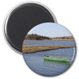 Green Canoe 2 Inch Round Magnet