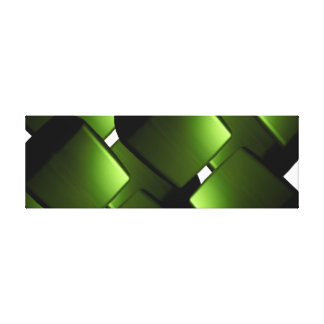 Green Canvas ARt Mod Retro Gallery Wrapped Canvas