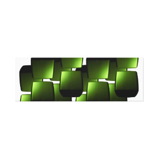 Green Canvas ARt Mod Retro 2 Gallery Wrapped Canvas