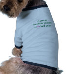 Green Canvas Plastic Is So Last Year Pet T Shirt