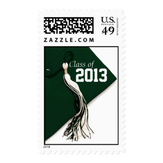 Green Cap Class of 2013 Postage