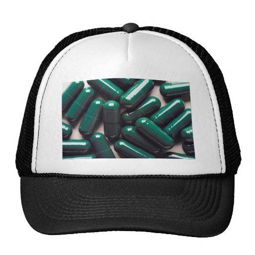 Green cap trucker hat