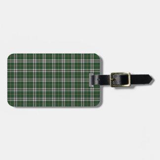 Green cape Breton tartan Bag Tag