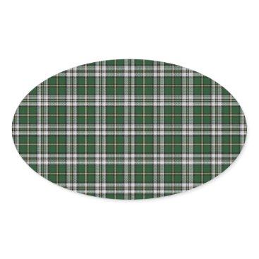 customizedgifts Green cape Breton tartan Oval Sticker