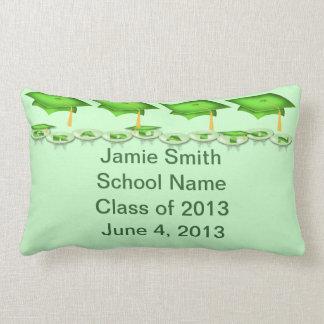 Green Caps Tassel Worth the Hassel Lumbar Pillow