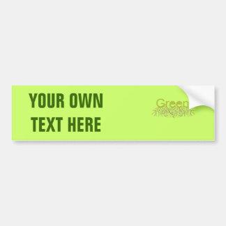 GREEN CAR BUMPER STICKER