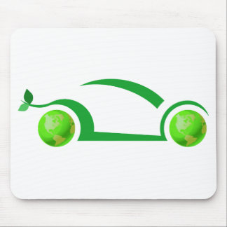 Green Car Concept Mouse Pads