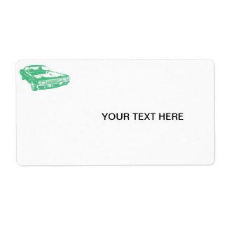 Green car custom shipping label