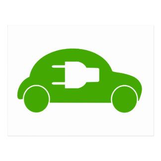 Green Car Eco Auto Electric Automobile Postcard