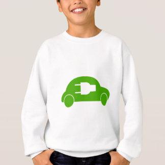 Green Car Eco Auto Electric Automobile Sweatshirt
