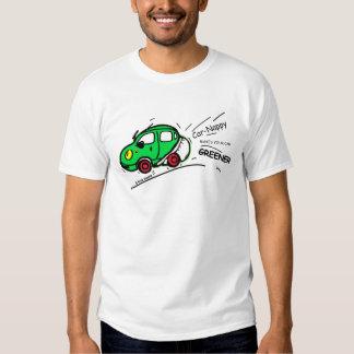 GREEN CAR funny cartoon T-shirt