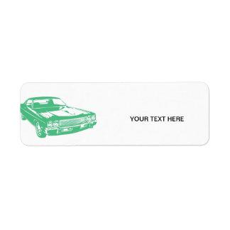 Green car labels