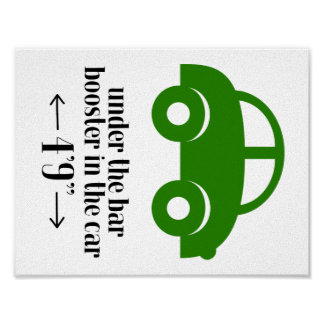 Green Car Poster