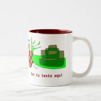 Green Caracol Two-Tone Coffee Mug