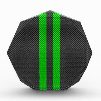 Green Carbon Fiber Style Racing Stripes Award