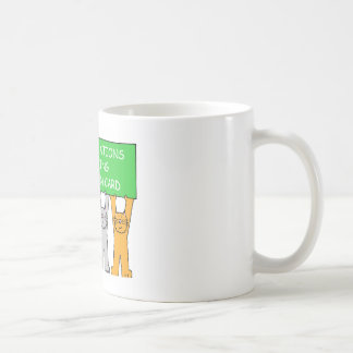 Green card Congratulations, cartoon cats. Coffee Mug