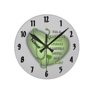 Green Cardiac Care Nurse Round Clock