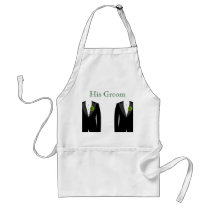 Green Carnation Apron His Groom Gay Wedding Gift