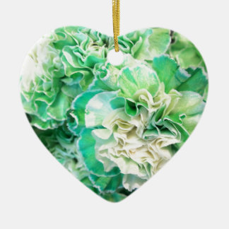 Green Carnation Ceramic Ornament