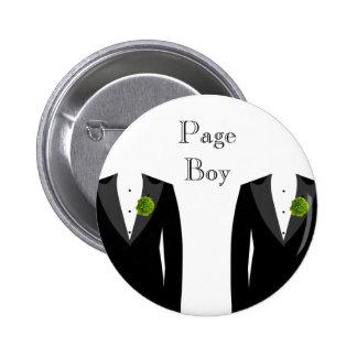 Green Carnation Gay Wedding Page Boy Badge Pinback Button
