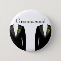 Green Carnation Groomsmaid Badge For A Wedding