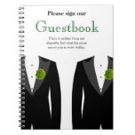 Green Carnation Guestbook for Gay Wedding Guests Note Books