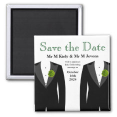 Green Carnation Save The Date Magnet Gay Wedding at Zazzle