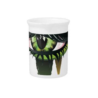 Green Carnival Vampire Eyes Beverage Pitchers