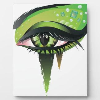 Green Carnival Vampire Eyes Plaque