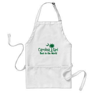 Green Carolina Girl Best in the World Aprons