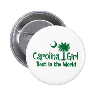 Green Carolina Girl Best in the World 2 Inch Round Button