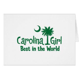 Green Carolina Girl Best in the World Card