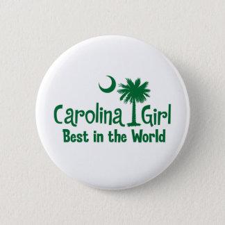 Green Carolina Girl Best in the World Pinback Button